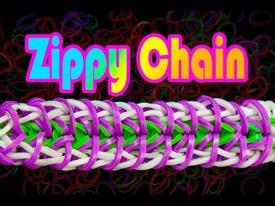 How to make the Zippy Chain Rainbow Loom Bracelet HD