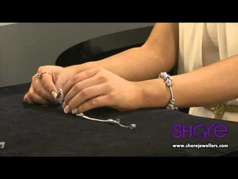 How To Put A Safety Chain, Charms And Spacers On A Pandora Bracelet