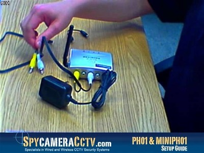 How to Set up the Wireless Colour Pinhole Spy Camera and Receiver