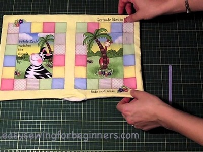 How to Sew a Fabric Book Panel Steps 5-8 (Part 2 of 3)