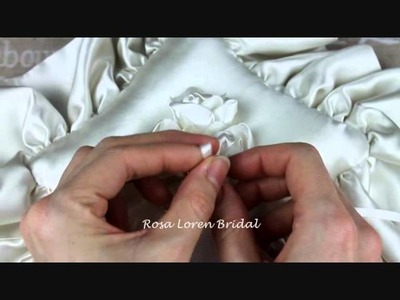 How to Tie Rings to Ring Pillow