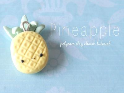 Kawaii Pineapple: Polymer clay tutorial