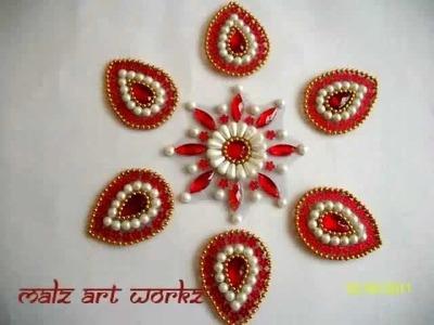 Kundan Rangoli Designs Small
