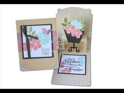 "Pop n' Cuts ""Over the Top WOW"" Pop Up Flower Pot - Stampin Up Video"