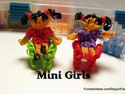 Rainbow Loom Mini Girl figure.charm - How to - Home Series