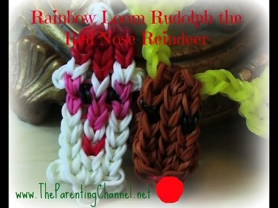 RAINBOW LOOM RUDOLPH CHARM BRACELET - How to Make