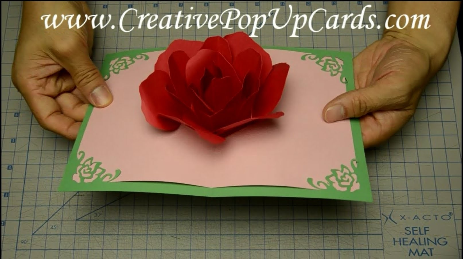 Rose Pop Up Card for Mother's Day or Valentine's Day