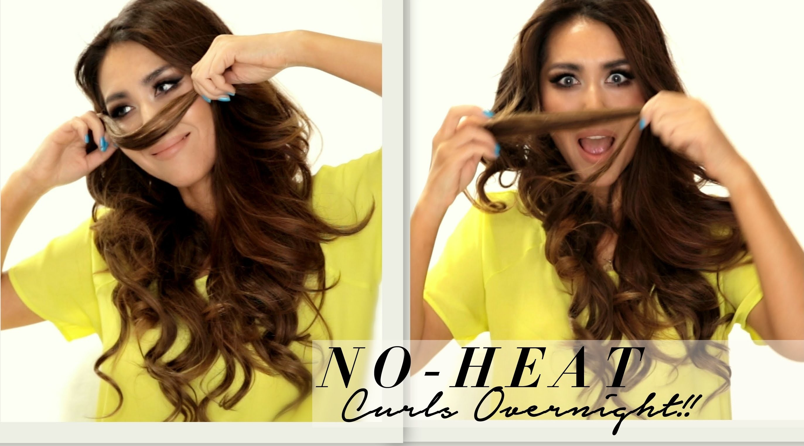 ★ Seriously EASY NO-HEAT CURLS Hairstyle & WEN 1st-Impression | SCHOOL HAIRSTYLES