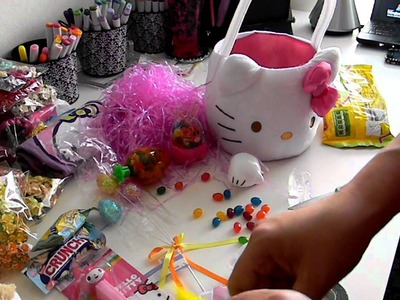 Start to Finish Tutorial Video: Filling Your Own Easter Basket Hello Kitty Style