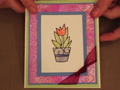Studio SN: Card Making with Distress Markers and Peel-Off Stickers