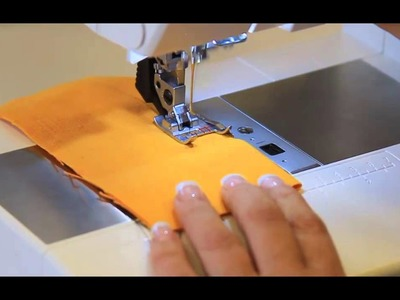Watch the Pfaff Seam Guide Foot with IDT in action