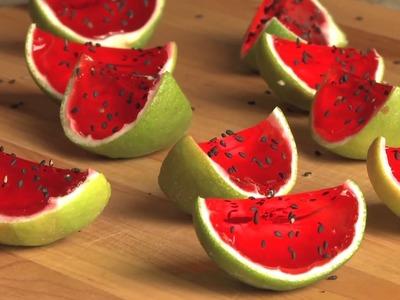 Watermelon Jell-O Shots Recipe - How to Make Sliced Watermelon Jell-O Shots