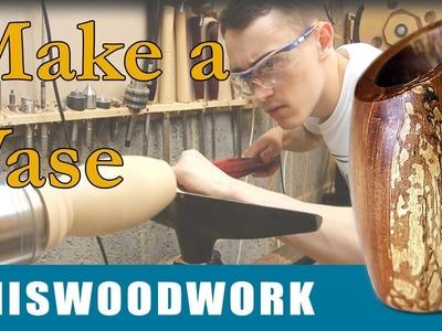 Woodturning | Log to Vase on the Wood Lathe