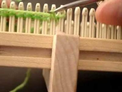 Working on Wonder Sock Loom - http:.YarnBay.etsy.com