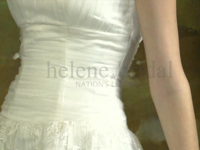 A-Line Princess Strapless Satin Tulle Wedding Dress - Style WD6223 - HeleneBridal.com