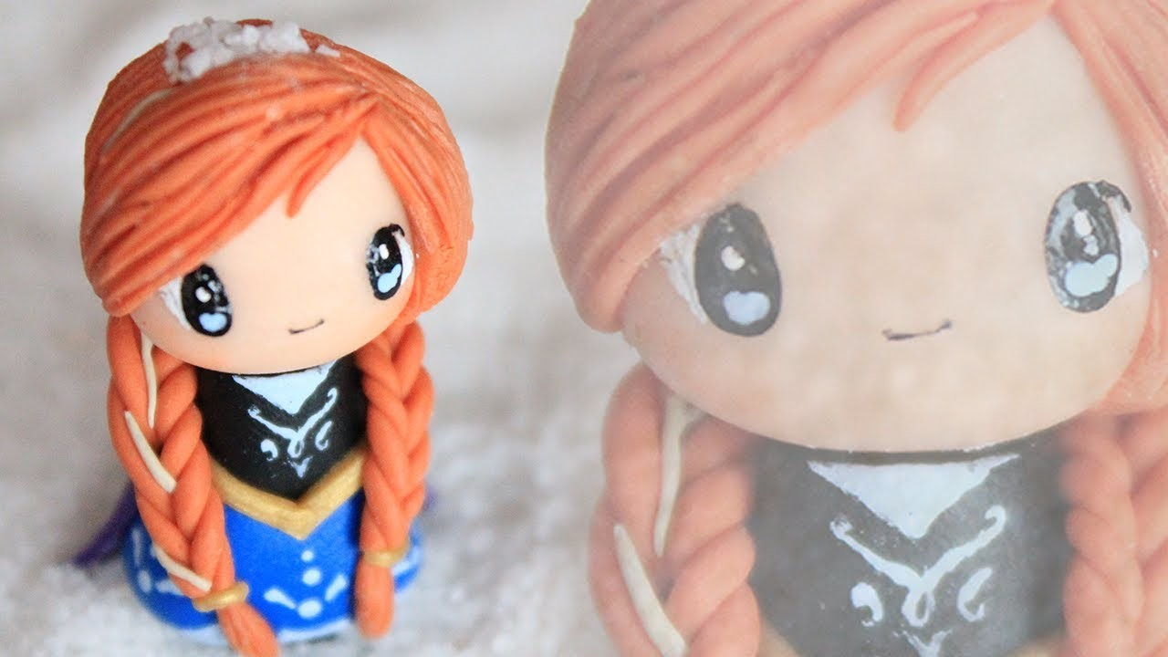 Anna Chibi  Tutorial from FROZEN : Polymer Clay How-to