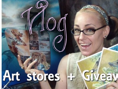 Artist Vlog - where to buy art supplies + 20k subscriber giveaway w. Lachri
