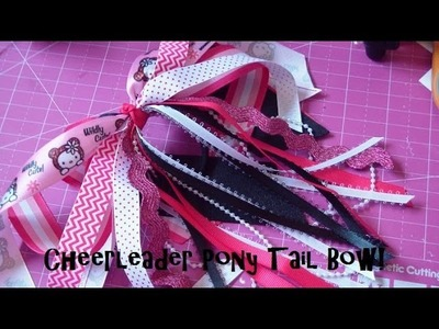 Bow How To: Cheerleader Pony Tail Bow! ft. Bowdabra