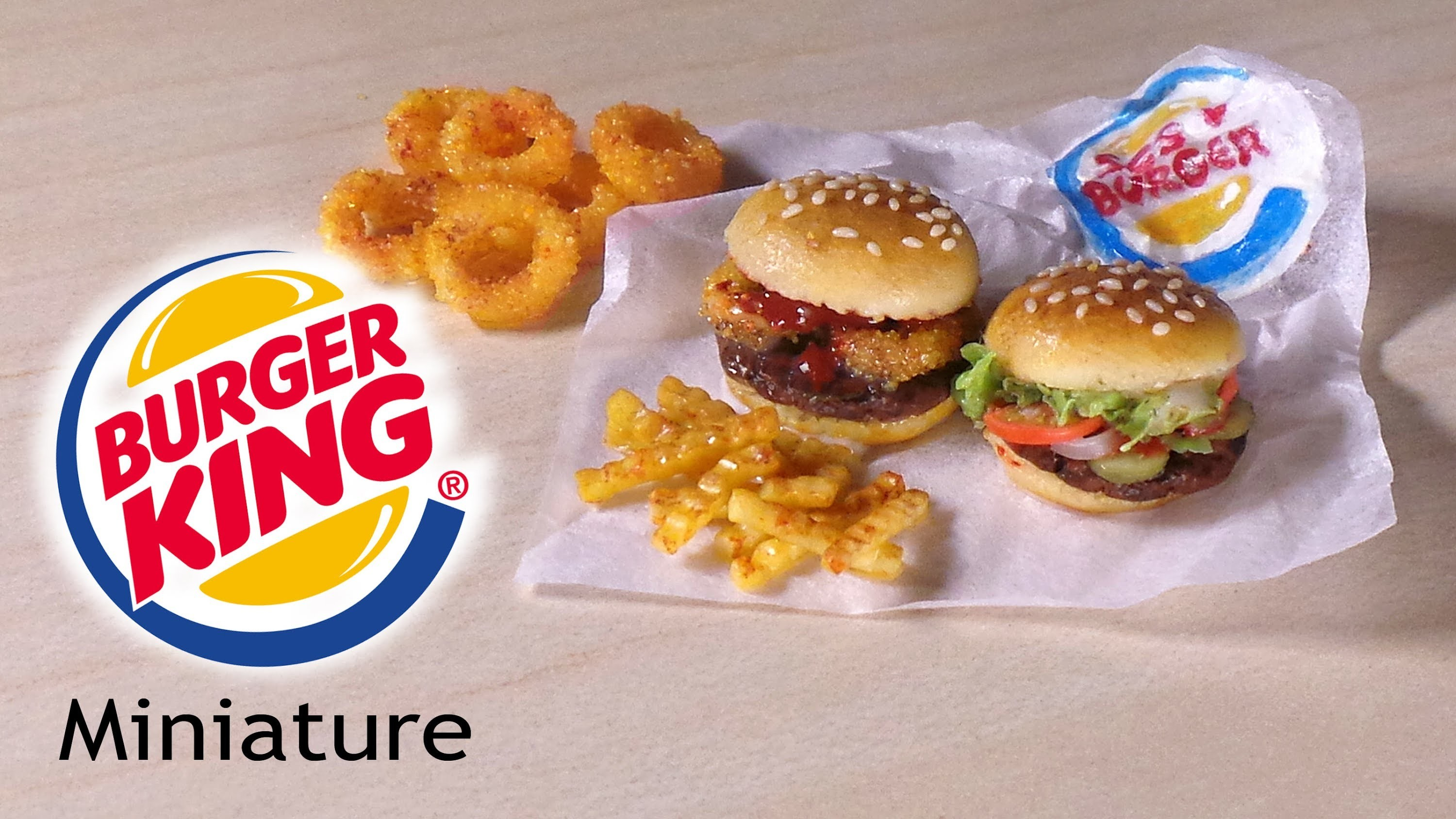 Burger King Inspired Miniatures - Polymer Clay Tutorial