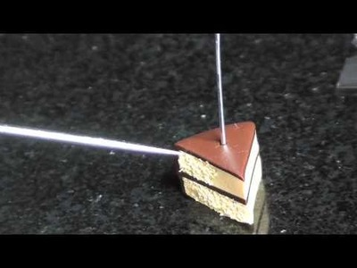 Chocolate & Vanilla Cake Slice - Polymer Clay Tutorial