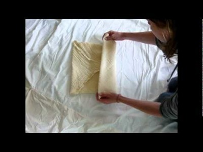 Cloth Diapering a Newborn with a Muslin Flat