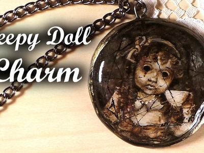 Creepy Doll Charm (Handpainted) - Polymer Clay Tutorial