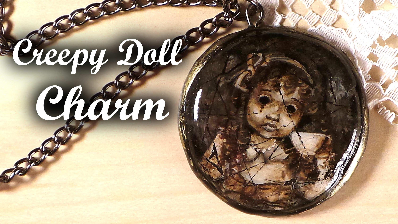 Creepy Doll Charm (Handpainted) - Polymer Clay Tutorial