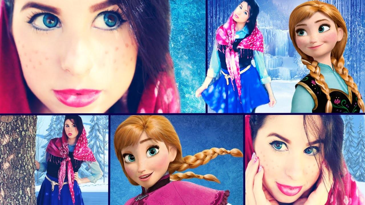 Disney's Frozen: DIY Anna Costume, Makeup & Hair!