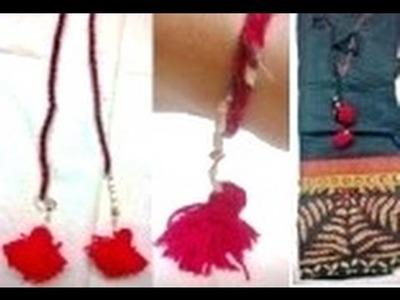D.I.Y. Tassel. loom dangle. latkan | beautiful decor for dress