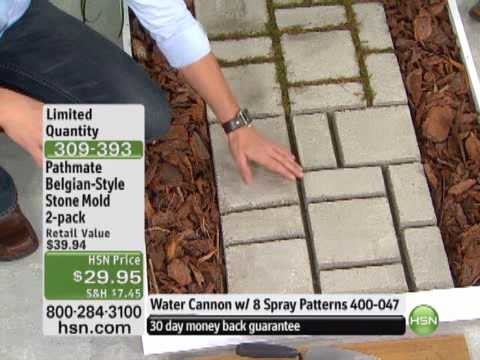 Do-It-Yourself Belgian-Style Cobblestone Walkway Mold 2-Pack from Pathmate