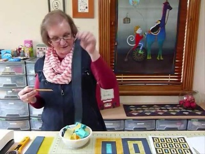 """Doodles with Noodles 9 - or playing with 1 1.2"""" strips - Quilting Tips & Techniques 107"""