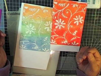 Episode 6- Embossing folders and a few techniques