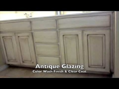Faux Paint Finish Walls and Antique Glaze Cabinets - Arlington, Texas
