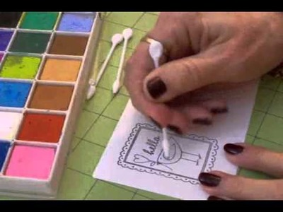 """""""Hello"""" Card - Coloring with Chalk"""