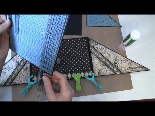 How to build a photo mini album with G45 Olde Curiosity Shoppe paper collection Part 15