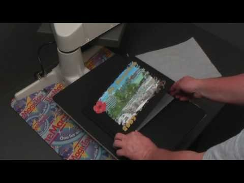 How to decorate a black Linen BookCover with TheMagicTouch® WoW Transfer Paper
