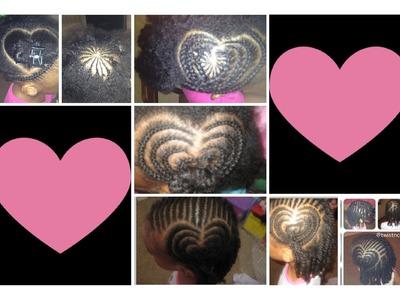 How to do a Heart Shape Braid Design - Fun Cute Hairstyles for Little Girls