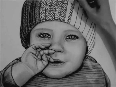 How to Draw a Baby with Charcoal