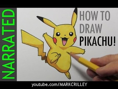 How to Draw Pikachu from Pokémon [Narrated Step by Step]