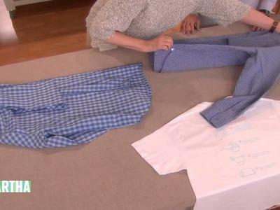 How to Fold a Button-Down Shirt | Martha Stewart