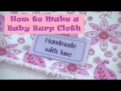 How to Make a Baby Burp Cloth
