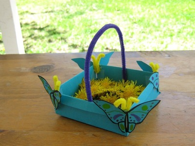 How to make a butterfly May basket, fun for Mother's Day