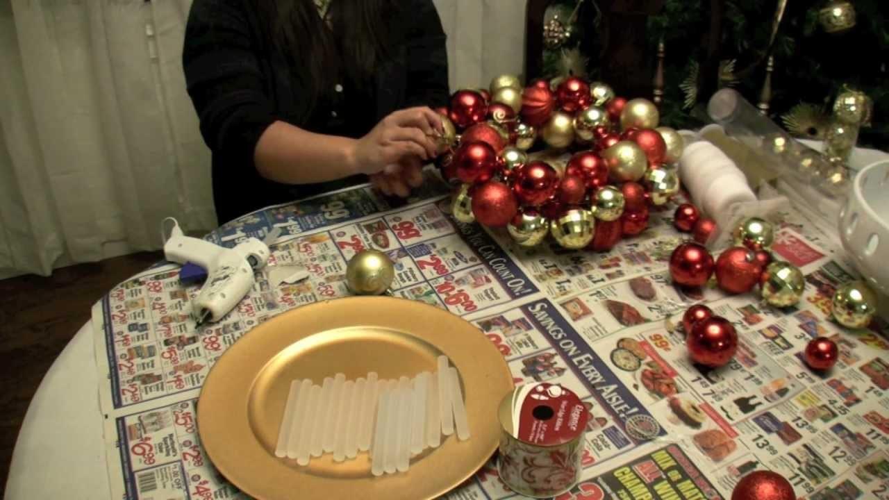 How To Make a Christmas Ornament Ball Wreath
