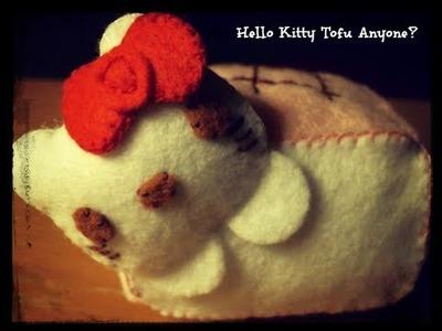 How To Make a Hello Kitty Tofu Plushie Tutorial
