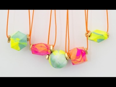 How to Make a Marbled Necklace - Thank You Baubles: Oh Joy Digital Baby Shower