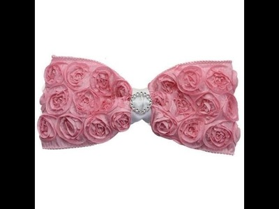 How to Make a Rosette Ribbon Hair Bow