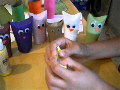 How to Make Owl Puppets Out of Toilet Paper Rolls