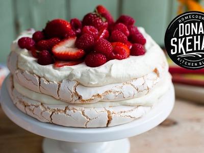 How to make.  Strawberry Pavlova Cake!