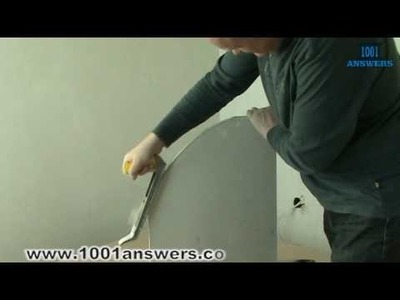 How to make the edge of drywall smoth