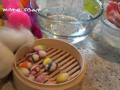 How to Make Wet Felted Easter Eggs
